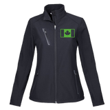 Ladies Softshell Jacket w/ Embroidered Military Flag
