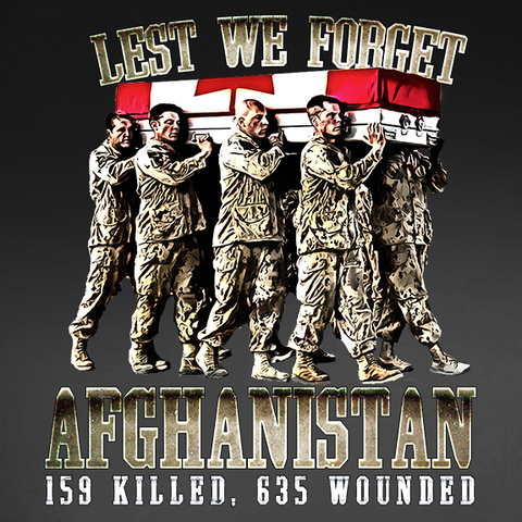 Lest We Forget Afghanistan War Window Decal