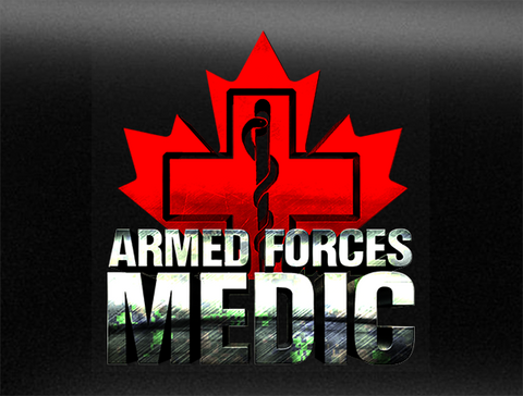Canadian Military Medic Bumper Sticker