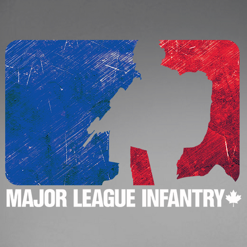 Major League Infantry Window Decal