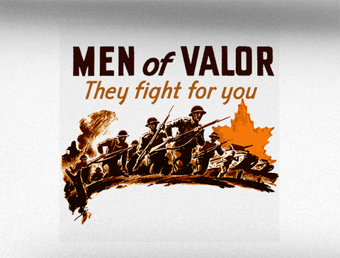 Men of Valour World War 2 Vehicle Bumper Sticker