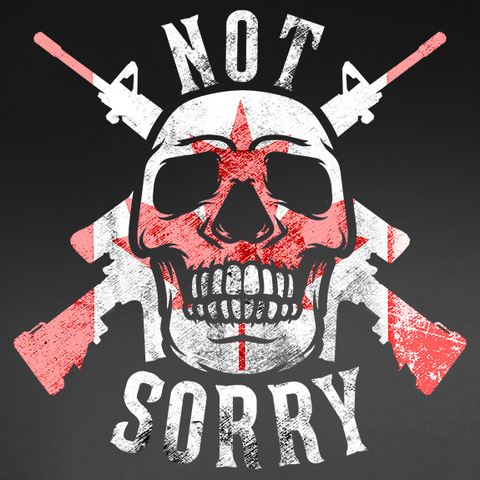 "Canadian Military ""Not Sorry"" Window Decal"