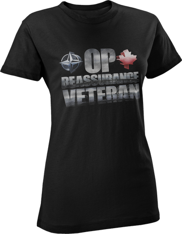 Operation REASSURANCE Veteran Women's T-Shirt