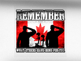 Canadian Military Remembrance Vehicle Bumper Sticker