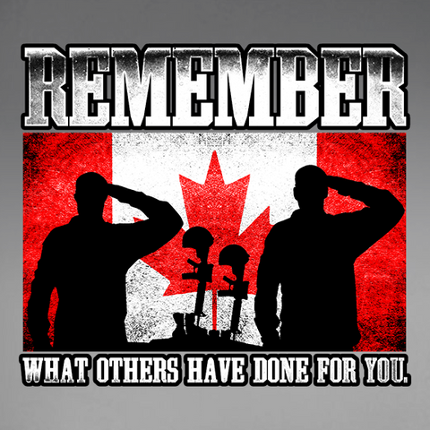 Canadian Military Remembrance Decal