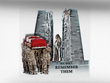 We Will Remember Them Vehicle Bumper Sticker