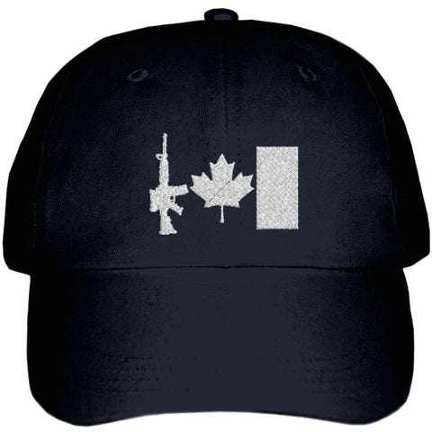 Military Ballcap with Canada C7 Rifle Flag