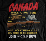 Canadian Expeditionary Force World War 1 Recruitment Hoodie