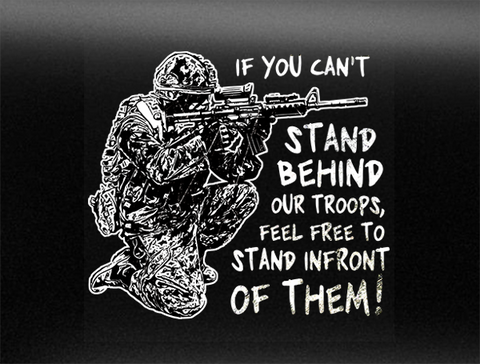 Stand Behind Our Military Vehicle Bumper Sticker