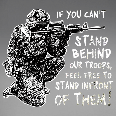 Stand Behind Our Troops Window Decal