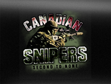 Canadian Snipers Vehicle Bumper Sticker