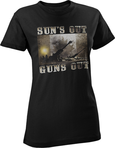 Suns Out Guns Out Artillery Women's T-Shirt