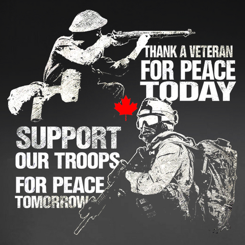 Thank A Vet, Support Our Troops Decal