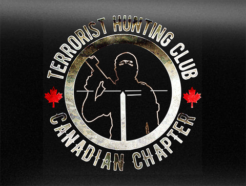 Terrorist Hunting Club Canadian Chapter Bumper Sticker
