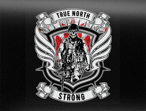 True North Strong Vehicle Bumper Sticker