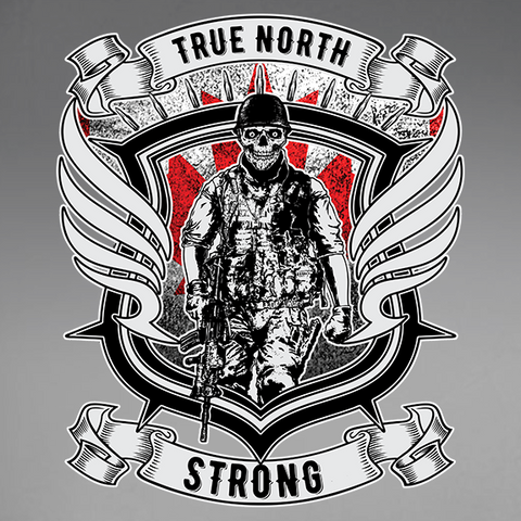 True North Strong Window Decal