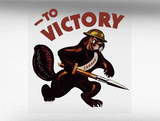 To Victory World War 2 Vehicle Bumper Sticker