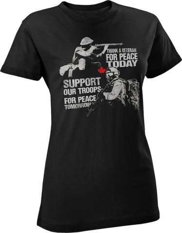 Thank A Veteran, Support Our Troops Women's T-Shirt