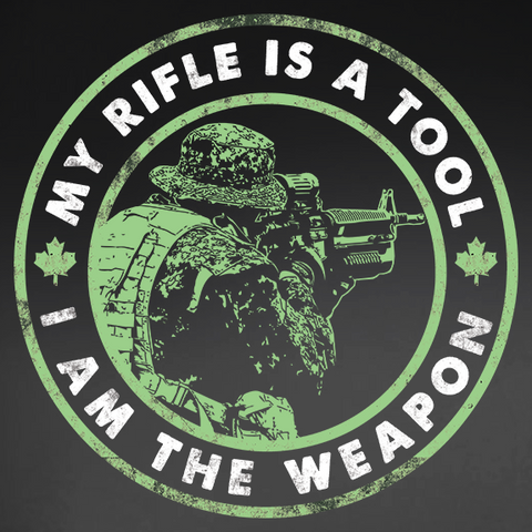 I Am The Weapon Decal