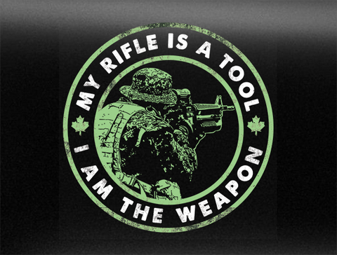 I Am The Weapon V2 Vehicle Bumper Sticker
