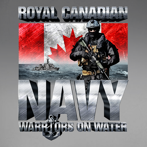 Warriors On Water Navy Decal