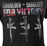 Shoulder To Shoulder Canada-UK-USA Allied Military Women's T-Shirt