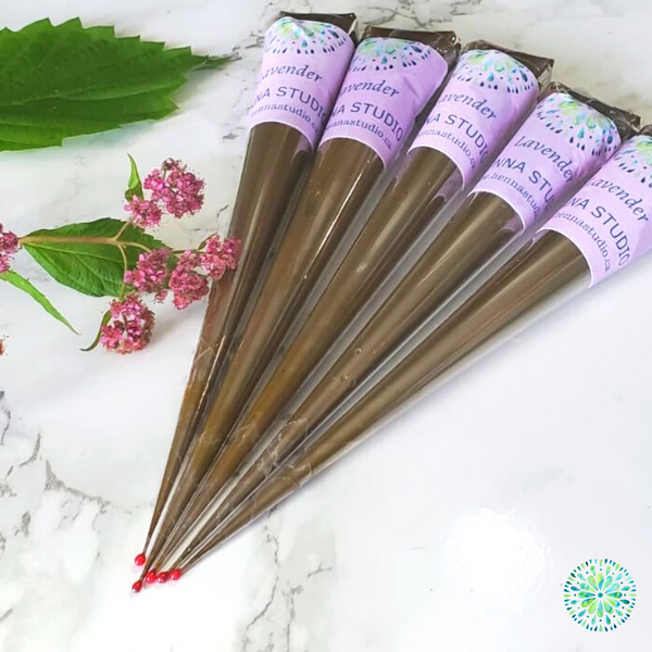 Organic Henna Cones with Lavender Essential Oil - Henna Studio