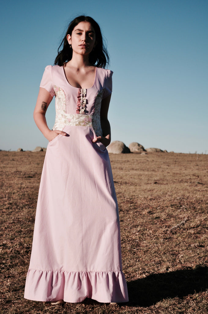 Pink Blush Prairie dress, size 12