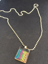 Scrabble necklace art