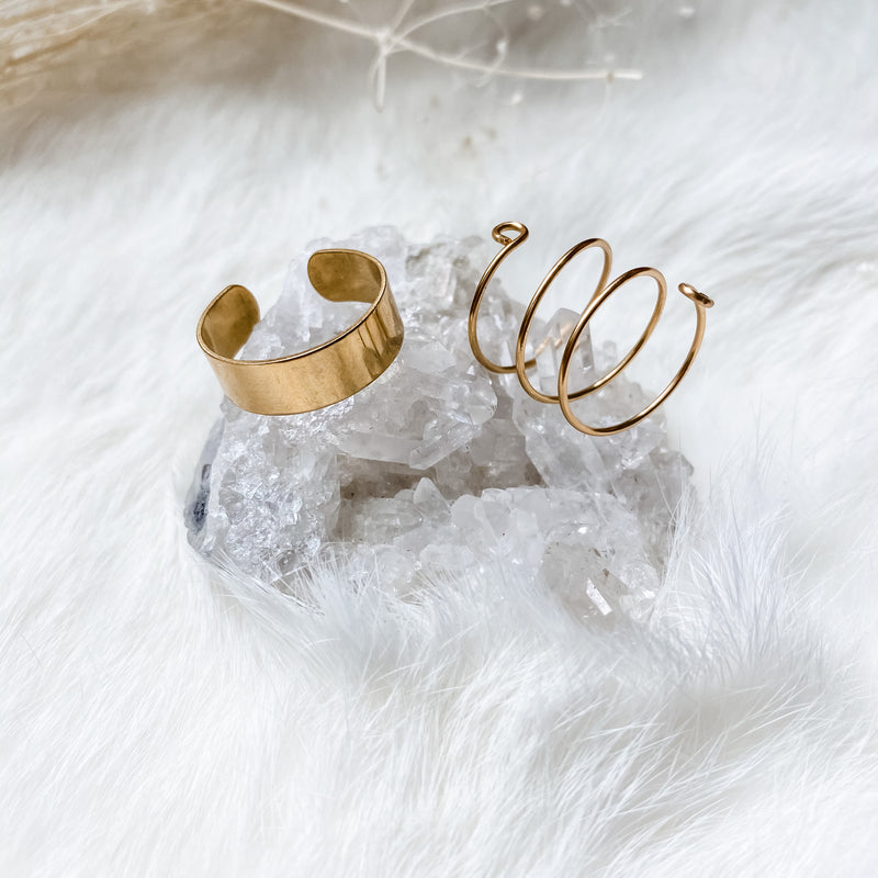 cuff and spiral ring set
