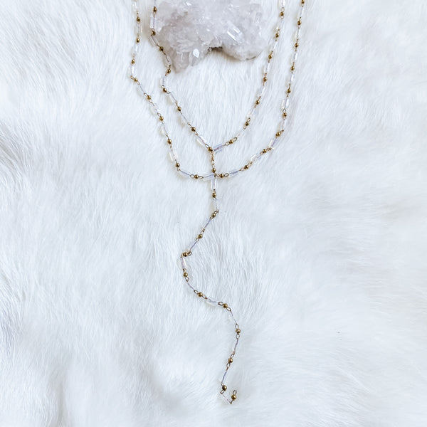 Opalite Layering Y Necklace 15-17""