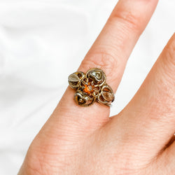 Antique Cannetille Carneilan Ring - Size 5.5