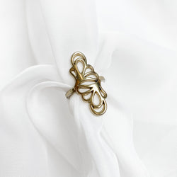 Vintage Statement Filigree Ring - Size 8