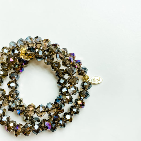 Smokey Glass Gemstone Bracelet