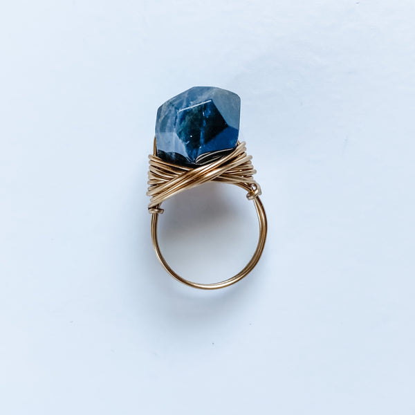 Labradorite Nugget Ring