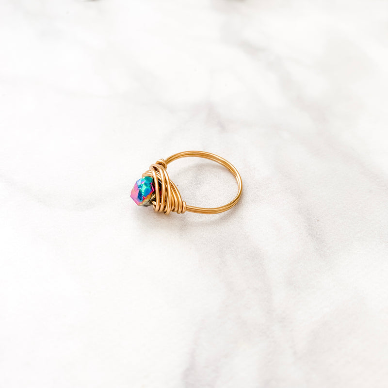Electroplated Quartz Nugget | Ring