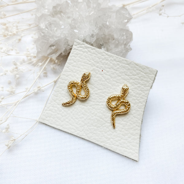 Gold Dipped Snake Studs