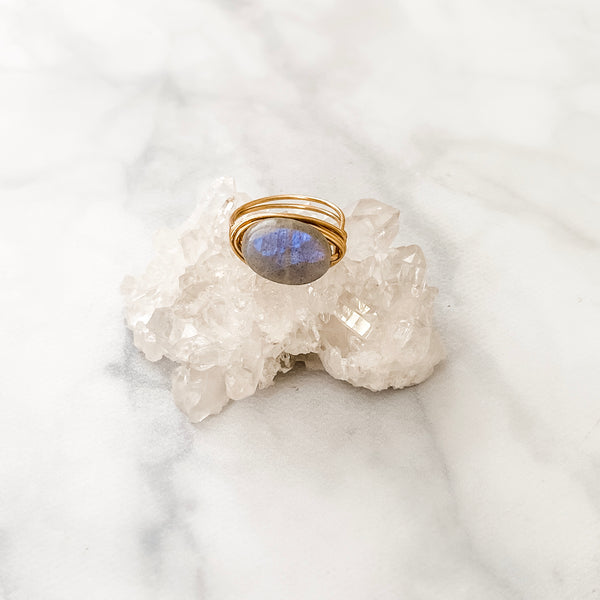 Labradorite Oval | Ring