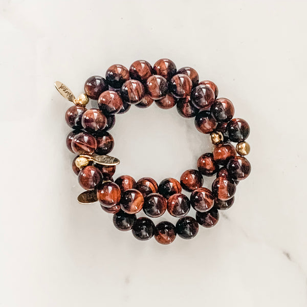Red Tiger Eye Gemstone Bracelet