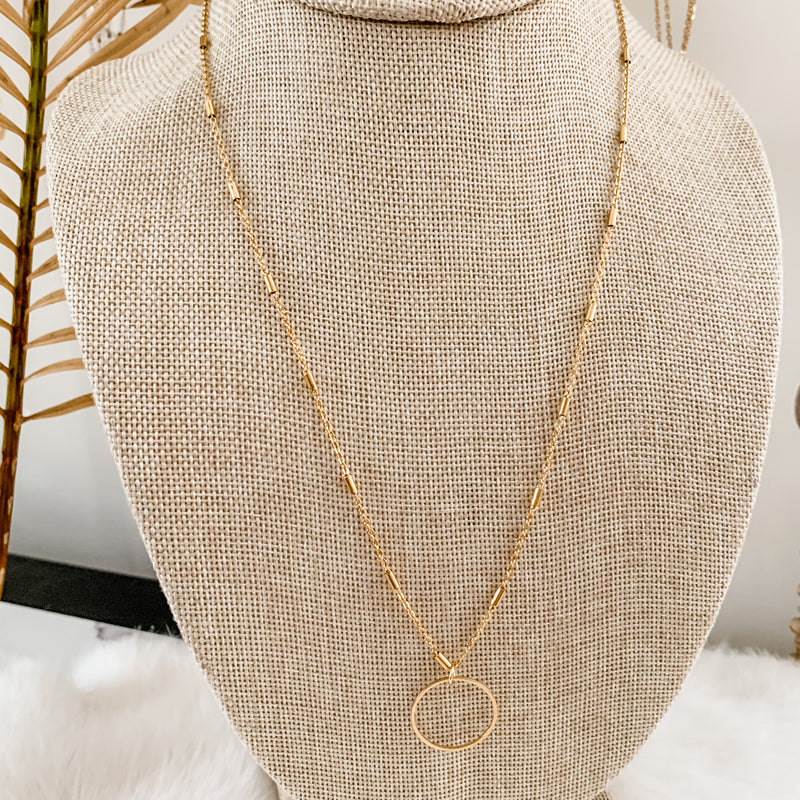 Open Circle Necklace 20-22""
