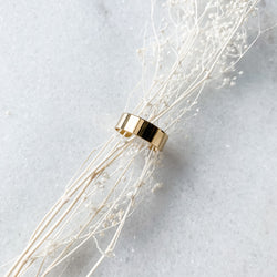 Thin Gold Cuff Ring