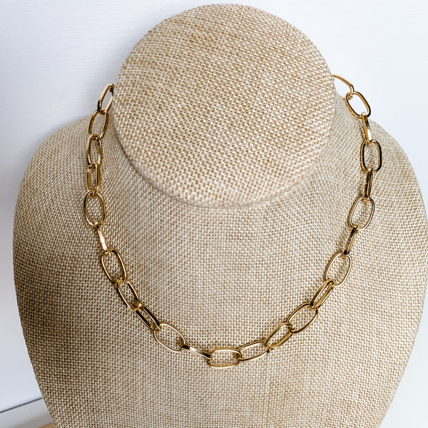 Chunky Link Chain Necklace 15-17""