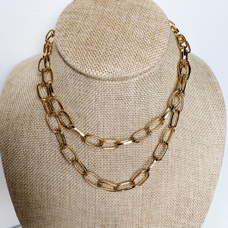 Layered Link Chain 14-16"