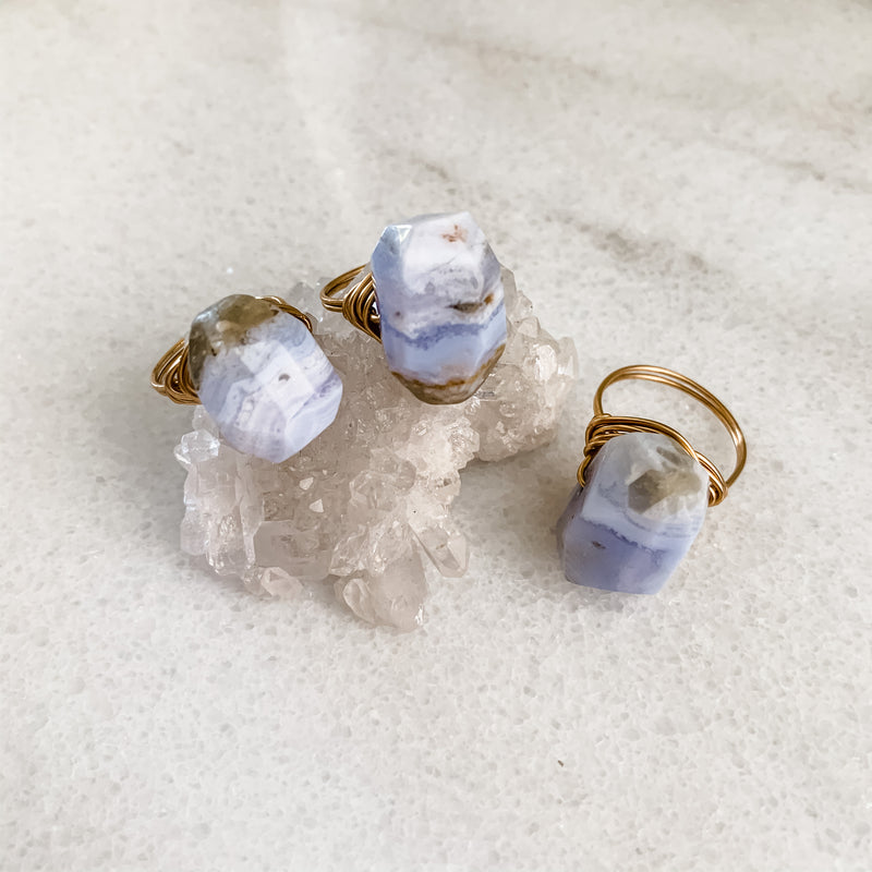 Blue Chalcedony | Ring