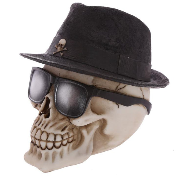 Skull wearing a trilby hat - Laceysluxury f933a70f637