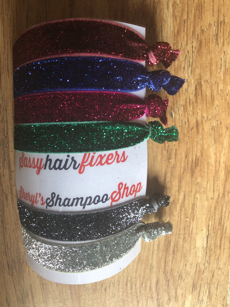 Glittery healthy hair ties - Laceysluxury c735ba9319a