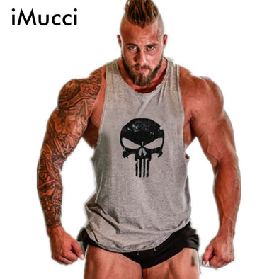 Punisher sleeveless gym shirt