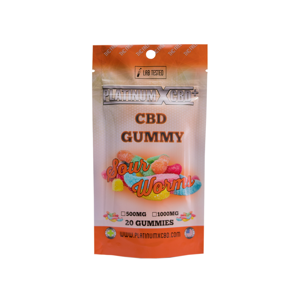 Sour Gummy Worms – Platinum X CBD