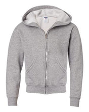 Load image into Gallery viewer, NuBlend® Youth Full-Zip Hooded Sweatshirt