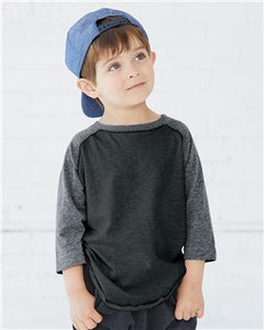 Toddler Baseball Fine Jersey Three-Quarter Sleeve Tee